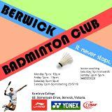 Berwick Badminton Club Melbourne